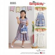 8565 Simplicity Pattern: Child's Dresses and Bags